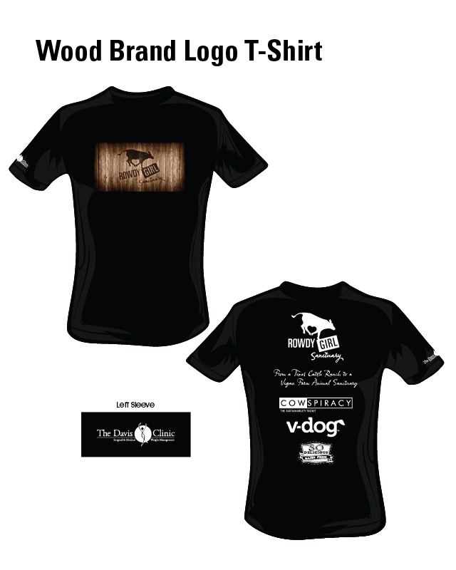Rowdy girl sanctuary wood brand logo t shirt rowdy girl for T shirt brand logo